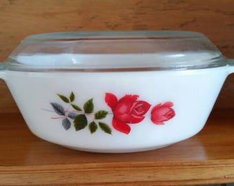 Pyrex JAJ June Rose round casserole dish