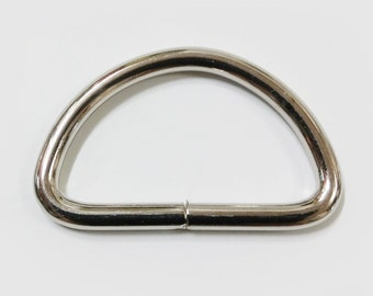 """3/4"""" Non-Welded D Ring Nickel Plated - 25 Pieces"""