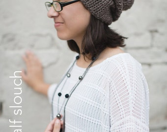 Slouchy Hat Crochet Pattern PDF (The Half & Half Slouch Hat Crochet Pattern by Little Monkeys Crochet) Slouch Hat Pattern, Crochet Slouch