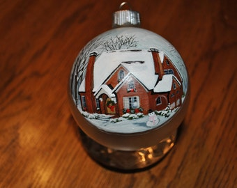 Custom Home Hand Painted Ornament Example -sold