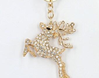 1 deer MULTICOLOR PENDANT key chain 6 X 6, 1 X 1, 1 cm.