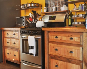 Reclaimed Wood Custom Cabinetry