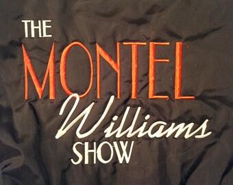 RARE 90s Montel Williams Show Jacket, Windbreaker, Sally Jessy Raphael, Ricki Lake, Geraldo Rivera, Maury, Jerry Springer, Daytime TV, Talk