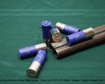 Dummy / Replica - 12ga Rio Elite High Chrome Shotgun Shells - Lot of 6 - Perfect for Crafts, Displays, Photo Props