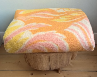 """Dutch vintage wool blanket Aabe made in Holland 69,3""""/84,6"""" inch"""