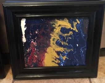 8x10 Framed Acrylic Painting
