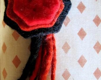cute rosette brooch in  felt