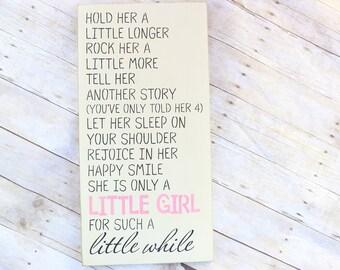 Rustic Girl Nursery, Wall Decor, Little Girl Sign, Baby Shower Gift