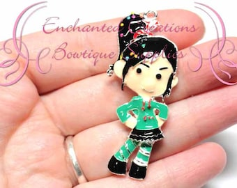 """2"""" Vanellope Inspired Charm, Candy Theme, Chunky Pendant, Keychain, Bookmark, Zipper Pull, Chunky Jewelry, Purse Charm, Planner Charm"""