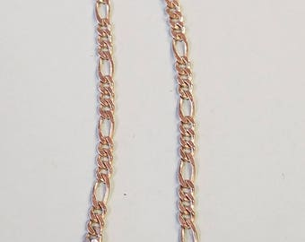 Vintage Sterling Tigaro chain bracelet, sterling bracelet, sterling, tigaro, bracelet