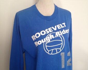 Vintage Roosevelt Rough Riders Basketball Longsleeve Tshirt