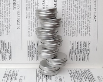 Small Metal Tins, Blank Round Silver Color, 15ml Screw Lidded (A Set Of 12 Boxes)