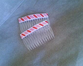Hair combs Candy cane  fashion combs  Hair accessories