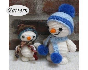 SNOWMAN & SNOWY - Amigurumi Pattern Crochet Doll Pattern Amigurumi Toy Pattern - Tutorial -   PDF - Plush Dolls