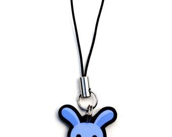 Kawaii Blue Bunny Rabbit Cell Phone Charm