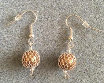 silver mesh earrings