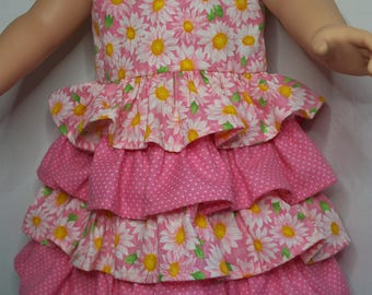 Pretty Ruffles Daisies & Dots dress for American Girl doll