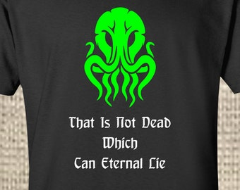 Cthulhu Shirt - HP Lovecraft - The Old Ones - Handmade - Gift - Birthday - Mens - Womens - H P Lovecraft