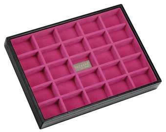 Stackers Black & Fuchsia Classic 25 Section Jewellery Tray LC73304
