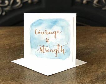 Handmade Mini Card - Courage
