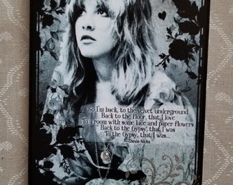 Stevie Nicks with Gypsy Song Decorative Wall Plaque Sign Hanging