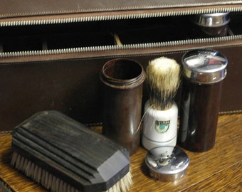 vintage leather shaving mens grooming case