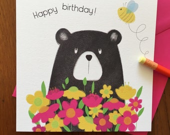 Birthday card- Bear