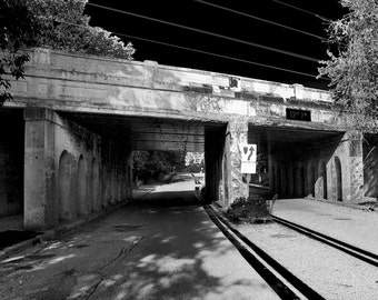Railroad Bridge on Webster in Royal Oak Michigan Fine Art Photograph on Metallic Paper