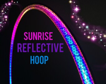 """Sunrise Reflective HDPE or Polypro 5/8"""" 3/4"""" Dance & Exercise Hula Hoop - NOT an LED hoop"""