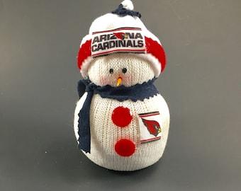 Arizona Cardinals,Arizona Cardinals decor,Arizona Cardinals accessory,Arizona Cardinals snowman,Arizona Cardinals collectible,NFL Cardinals