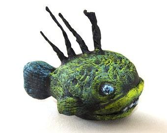 Fantasy deep sea fish sculpture