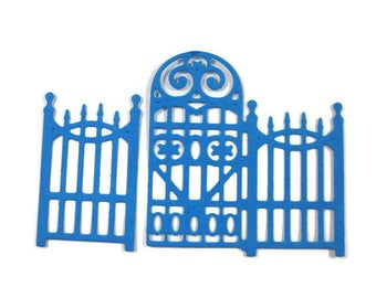 Detailed Wrought Iron Fence Paper Die Cut Set of 12 (24 total pieces)
