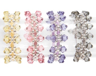 Jewellery Craft Making Kit / The Kleshna SWAROVSKI Crystal Kisses Friendship Bracelet Jewellery Kit