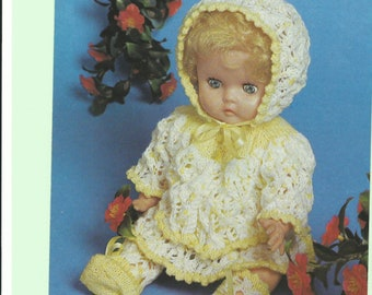 vintage kniting pattern dolls clothes