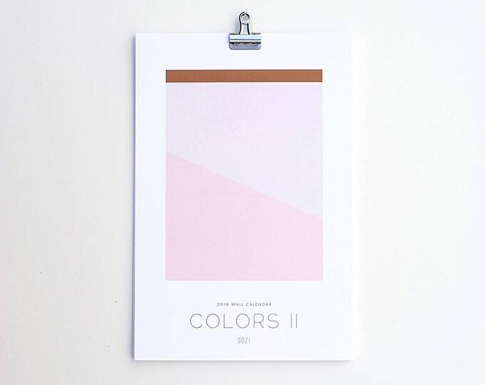 2018 Wall Calendar - Colors II