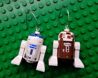 R2D2 Lego Earrings