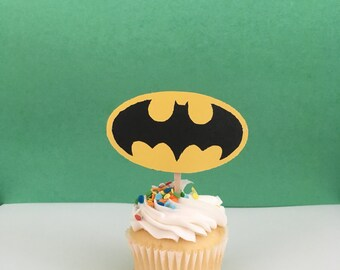Batman Inspired Cupcake Topper