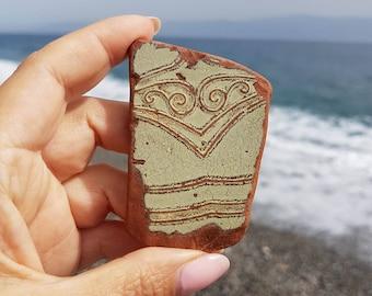 Genuine Italian Sea Pottery, Sea Beach Pottery, Beach Pottery for Making Jewelry, I-175