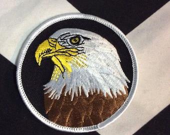 Bald Eagle Portrait Round Patch