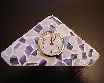 Triangle Clock Mosaic by DENISE SLOAN - SALE