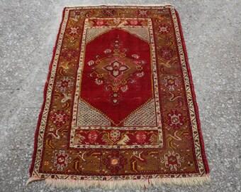 Kilim Rug , Turkish Kilim Rug , Handmade Rug , Kilim , Rug ,Vintage Kilim Rug , Antique Kilim Rug , Oushak Kilim Rug , Area  5.2 x 3.4 FEET
