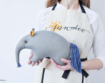 Birthday Gift for baby - Stuffed Toy Pillow - Modern Nursery Decor - Anteater Toy - Australian creatures - Baby Shower Gift - Stuffed Plush