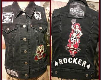 Rocker Lady Luck vest  Levis size M