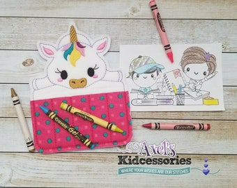 Unicorn Crayon Holder - Crayon Caddy - Accessories for Kids - Coloring - Candy Coloring Holder - Unicorn Party Favor - Baby Unicorn