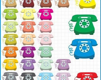 telephone clipart, instant download PNG files