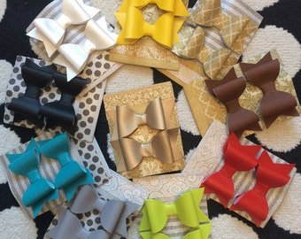 Leather Pixie hair bows