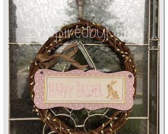 Grapevine wreath, Easter grapevine wreath, spring wreath, Easter wreath, small Easter wreath