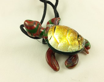 Turtle - Glass Necklace