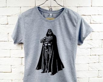 STAR WARS Darth Vader Cool Gray T-Shirt For Women