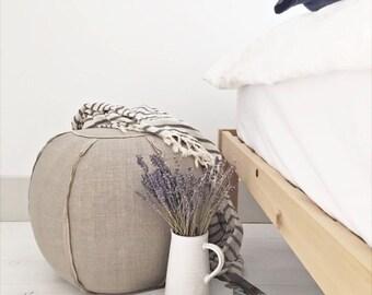 Linen Pouf/Ottoman